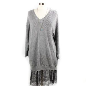 🌸🌵🌼Who What Wear | Sweater Dress W/Lace 1X NWT